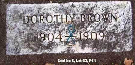 BROWN, DOROTHY - Calhoun County, Michigan | DOROTHY BROWN - Michigan Gravestone Photos