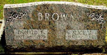 BROWN, DONALD E - Calhoun County, Michigan | DONALD E BROWN - Michigan Gravestone Photos