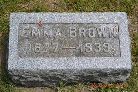 BROWN, EMMA - Calhoun County, Michigan   EMMA BROWN - Michigan Gravestone Photos