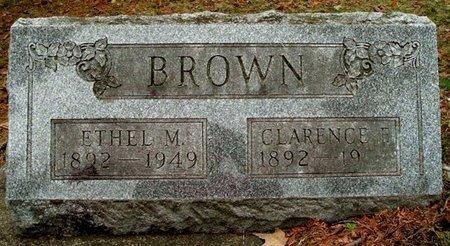 BROWN, ETHEL M. - Calhoun County, Michigan   ETHEL M. BROWN - Michigan Gravestone Photos