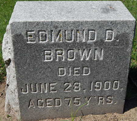 BROWN, EDMUND D - Calhoun County, Michigan   EDMUND D BROWN - Michigan Gravestone Photos