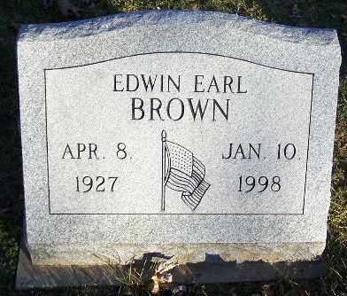 BROWN, EDWIN EARL - Calhoun County, Michigan | EDWIN EARL BROWN - Michigan Gravestone Photos