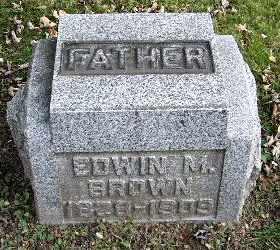 BROWN, EDWIN M - Calhoun County, Michigan | EDWIN M BROWN - Michigan Gravestone Photos