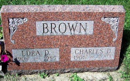 BROWN, EDRA D - Calhoun County, Michigan | EDRA D BROWN - Michigan Gravestone Photos