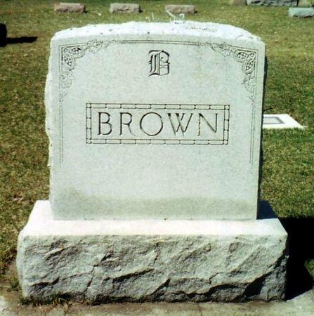 BROWN, FAMILY MARKER - Calhoun County, Michigan | FAMILY MARKER BROWN - Michigan Gravestone Photos