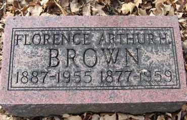 BROWN, ARTHUR H - Calhoun County, Michigan | ARTHUR H BROWN - Michigan Gravestone Photos