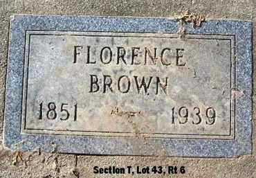 BROWN, FLORENCE - Calhoun County, Michigan | FLORENCE BROWN - Michigan Gravestone Photos