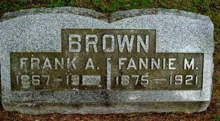 BROWN, FANNIE M - Calhoun County, Michigan   FANNIE M BROWN - Michigan Gravestone Photos