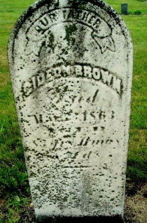 BROWN, GIDEON - Calhoun County, Michigan   GIDEON BROWN - Michigan Gravestone Photos