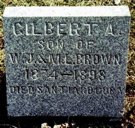 BROWN, GILBERT A. - Calhoun County, Michigan | GILBERT A. BROWN - Michigan Gravestone Photos