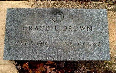 BROWN, GRACE L. - Calhoun County, Michigan | GRACE L. BROWN - Michigan Gravestone Photos