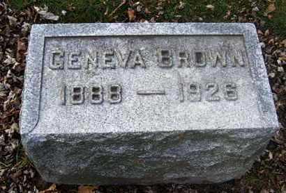 BROWN, GENEVA - Calhoun County, Michigan | GENEVA BROWN - Michigan Gravestone Photos