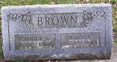 BROWN, GEORGE A - Calhoun County, Michigan | GEORGE A BROWN - Michigan Gravestone Photos