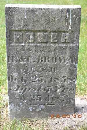 BROWN, HOMER - Calhoun County, Michigan | HOMER BROWN - Michigan Gravestone Photos