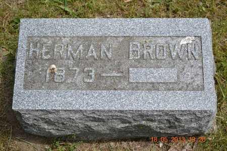 BROWN, HERMAN - Calhoun County, Michigan   HERMAN BROWN - Michigan Gravestone Photos