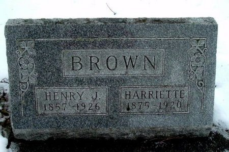 BROWN, HENRY J. - Calhoun County, Michigan | HENRY J. BROWN - Michigan Gravestone Photos