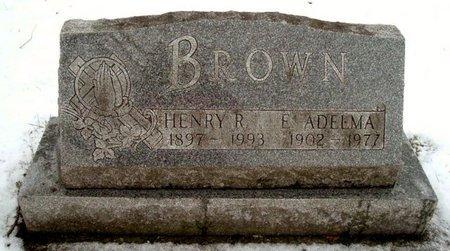 BROWN, E. ADEEMA - Calhoun County, Michigan | E. ADEEMA BROWN - Michigan Gravestone Photos
