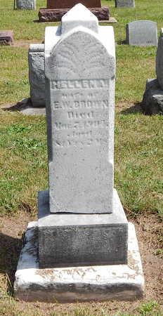 BROWN, HELLEN A. - Calhoun County, Michigan | HELLEN A. BROWN - Michigan Gravestone Photos