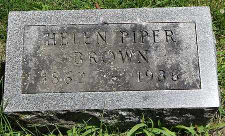BROWN, HELEN - Calhoun County, Michigan   HELEN BROWN - Michigan Gravestone Photos