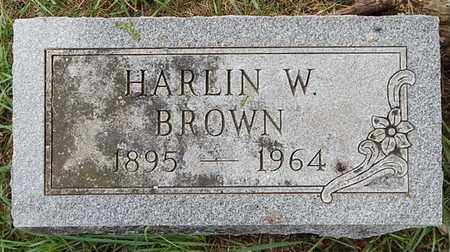 BROWN, HARLIN W - Calhoun County, Michigan | HARLIN W BROWN - Michigan Gravestone Photos