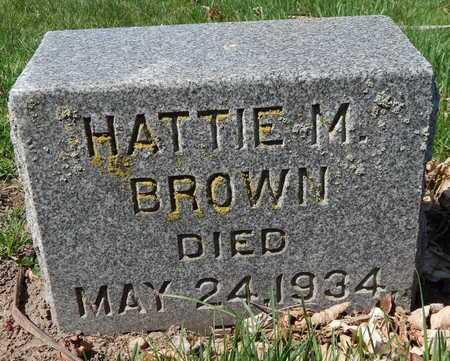 BROWN, HARRIET M - Calhoun County, Michigan   HARRIET M BROWN - Michigan Gravestone Photos