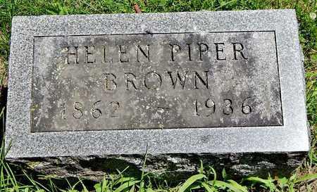 BROWN, HELEN PIPER - Calhoun County, Michigan   HELEN PIPER BROWN - Michigan Gravestone Photos