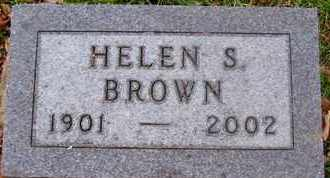 BROWN, HELEN S - Calhoun County, Michigan | HELEN S BROWN - Michigan Gravestone Photos