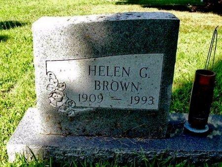 BROWN, HELEN G. - Calhoun County, Michigan   HELEN G. BROWN - Michigan Gravestone Photos