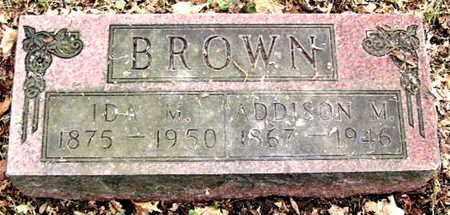 BROWN, ADDISON M - Calhoun County, Michigan | ADDISON M BROWN - Michigan Gravestone Photos