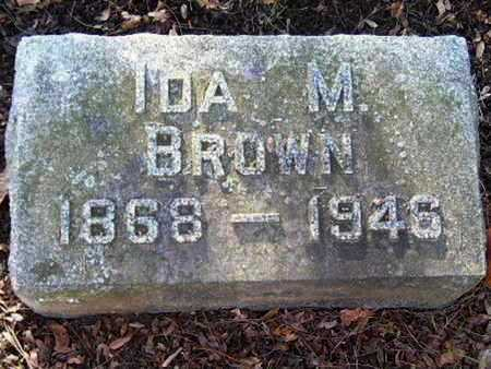 BROWN, IDA M - Calhoun County, Michigan   IDA M BROWN - Michigan Gravestone Photos
