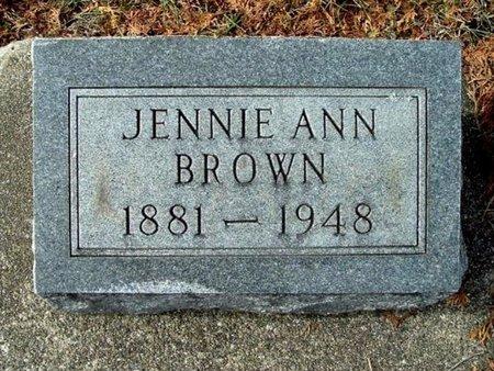 BROWN, JENNIE A. - Calhoun County, Michigan | JENNIE A. BROWN - Michigan Gravestone Photos