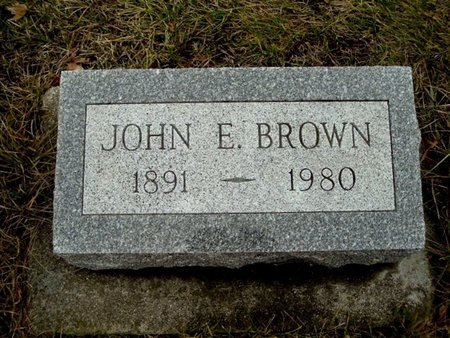 BROWN, JOHN E. - Calhoun County, Michigan   JOHN E. BROWN - Michigan Gravestone Photos