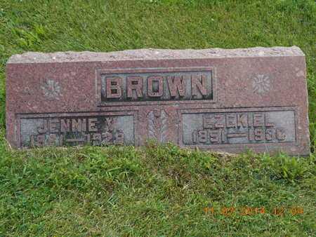 BROWN, EZEKIEL - Calhoun County, Michigan | EZEKIEL BROWN - Michigan Gravestone Photos