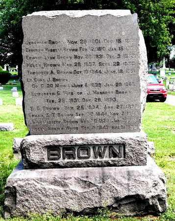 BROWN, FRANK S.T. - Calhoun County, Michigan | FRANK S.T. BROWN - Michigan Gravestone Photos