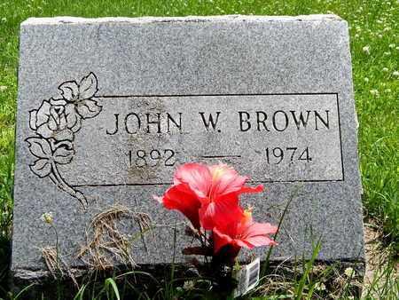 BROWN, JOHN W. - Calhoun County, Michigan | JOHN W. BROWN - Michigan Gravestone Photos