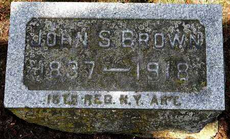 BROWN, JOHN S - Calhoun County, Michigan | JOHN S BROWN - Michigan Gravestone Photos