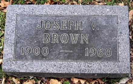 BROWN, JOSEPH V - Calhoun County, Michigan | JOSEPH V BROWN - Michigan Gravestone Photos