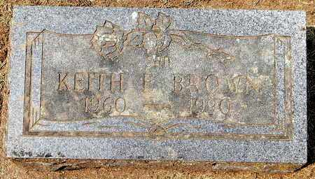 BROWN, KEITH E - Calhoun County, Michigan | KEITH E BROWN - Michigan Gravestone Photos