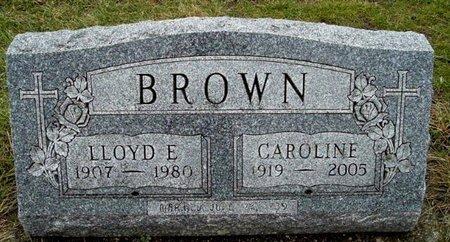 BROWN, LLOYD E. - Calhoun County, Michigan | LLOYD E. BROWN - Michigan Gravestone Photos