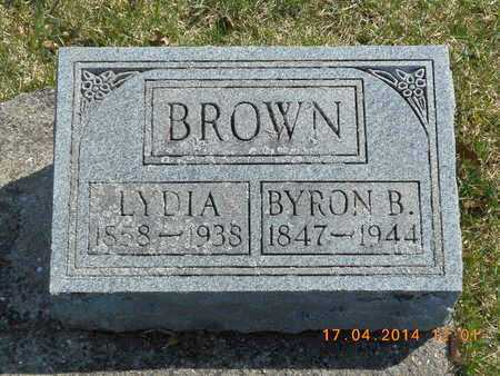BROWN, BYRON B. - Calhoun County, Michigan | BYRON B. BROWN - Michigan Gravestone Photos
