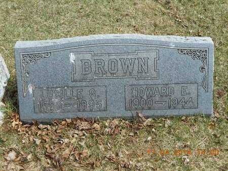 BROWN, HOWARD E. - Calhoun County, Michigan | HOWARD E. BROWN - Michigan Gravestone Photos
