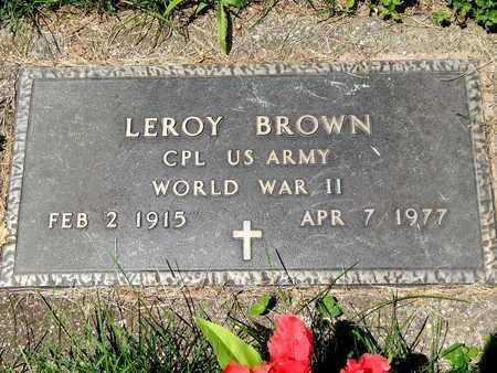 BROWN, LEROY - Calhoun County, Michigan | LEROY BROWN - Michigan Gravestone Photos