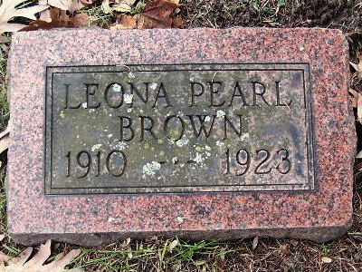BROWN, LEONA PEARL - Calhoun County, Michigan | LEONA PEARL BROWN - Michigan Gravestone Photos