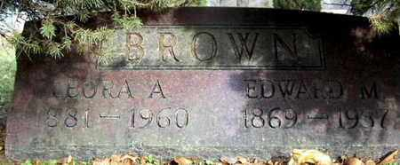BROWN, EDWARD M - Calhoun County, Michigan | EDWARD M BROWN - Michigan Gravestone Photos