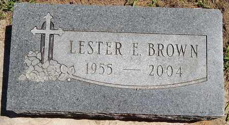 BROWN, LESTER E - Calhoun County, Michigan | LESTER E BROWN - Michigan Gravestone Photos