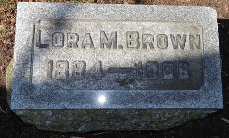 BROWN, LORA M - Calhoun County, Michigan | LORA M BROWN - Michigan Gravestone Photos