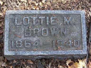 BROWN, LOTTIE M - Calhoun County, Michigan | LOTTIE M BROWN - Michigan Gravestone Photos