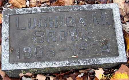 BROWN, LUCINDA M - Calhoun County, Michigan | LUCINDA M BROWN - Michigan Gravestone Photos