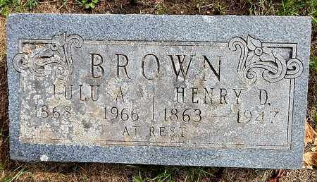 BROWN, HENRY D - Calhoun County, Michigan | HENRY D BROWN - Michigan Gravestone Photos