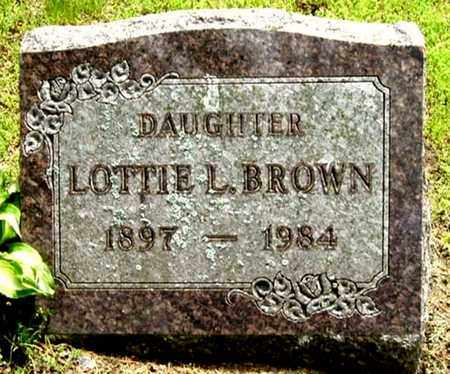 BROWN, LOTTIE L - Calhoun County, Michigan | LOTTIE L BROWN - Michigan Gravestone Photos